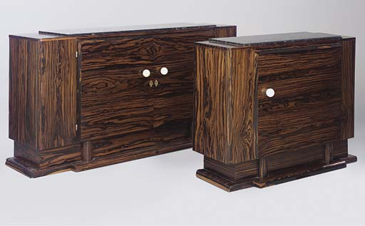 TWO MACASSAR SIDEBOARDS