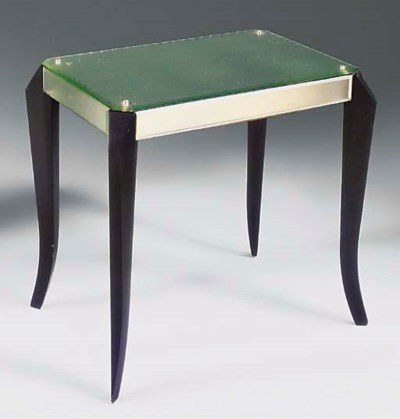A MIRRORED OCCASIONAL TABLE