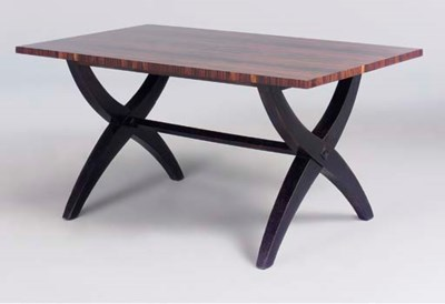 A MACASSAR DINING TABLE