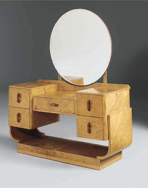 A WALNUT DRESSING TABLE