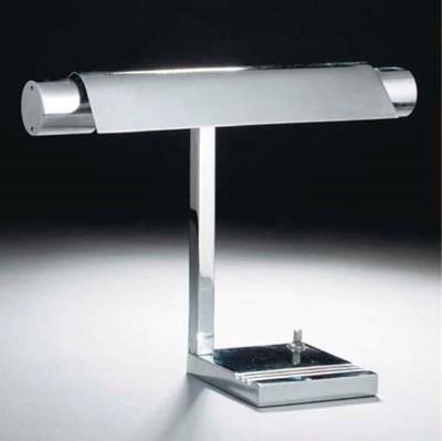 A Modernist chromed metal desk