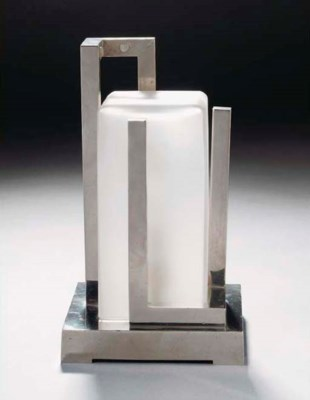 A Modernist chromed metal and