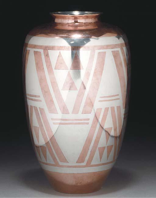 A dinanderie vase