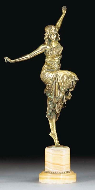 'Russian Dancer' A bronze figu