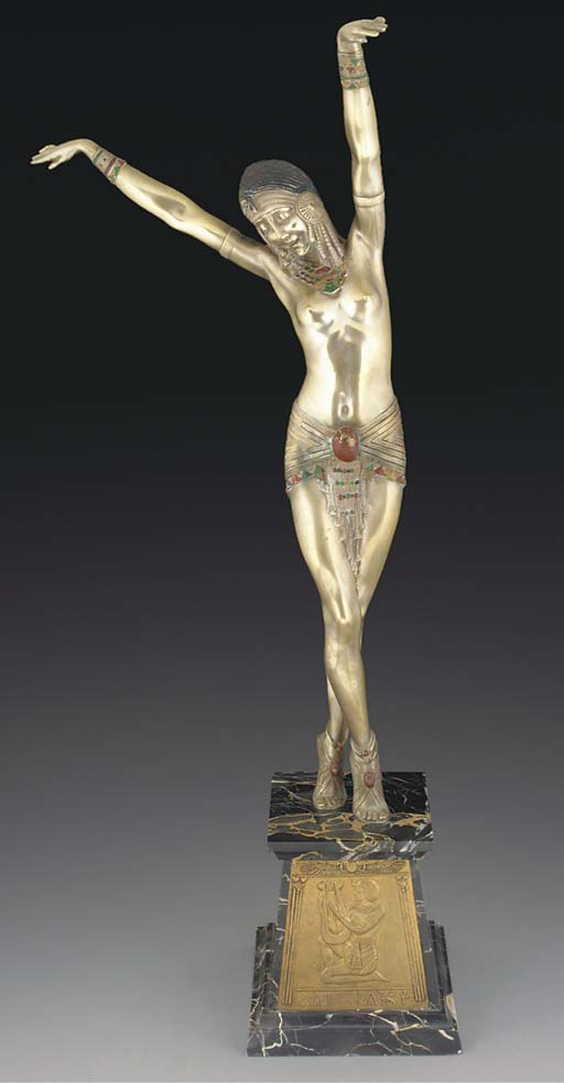'Egyptian Dancer' A silvered a
