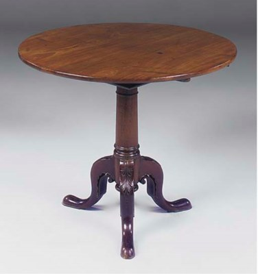 A MAHOGANY TRIPOD TABLE