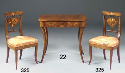 A BIEDERMEIER FRUITWOOD AND WA