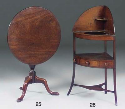 A mahogany corner bowfronted w