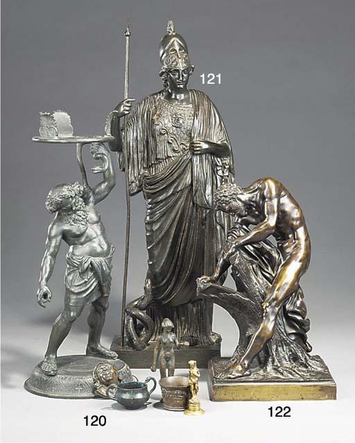 An Italian bronze model of Ath
