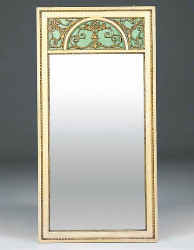 A French painted and gilt over