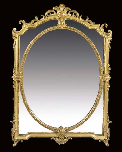 A Victorian gilt composition o