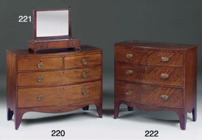 A Regency mahogany bowfronted