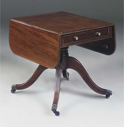 A mahogany pembroke table
