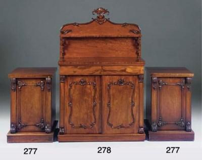 A Victorian mahogany chiffonie