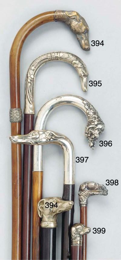 A Continental silvered brass m