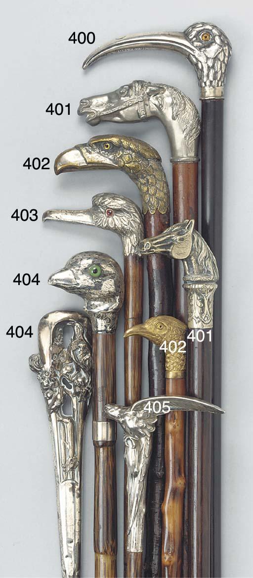 A Victorian silver mounted bam