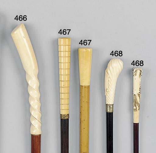 An ivory mounted hardwood walk