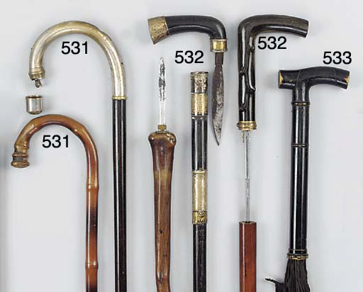 A horn mounted malacca sword s