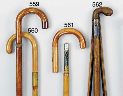 A wood 'gadget' walking stick