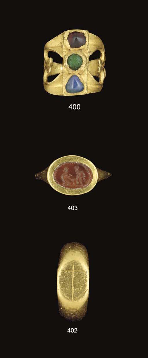 A ROMANO-BRITISH GOLD RING