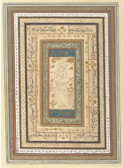 SMALL DRAWING OF A YOUTH, SAFAVID IRAN, EARLY 17TH CENTURY