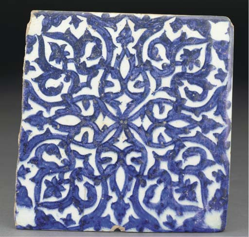 A Mamluk blue and white potter