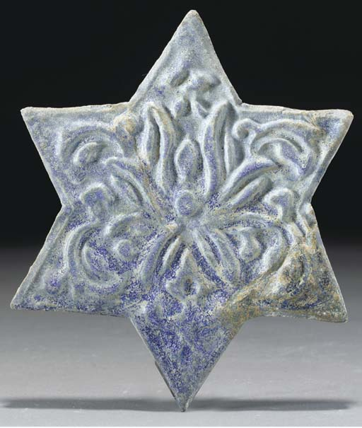 An Ilkhanid cobalt blue glazed