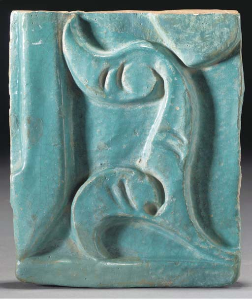 A Khorassan moulded turquoise