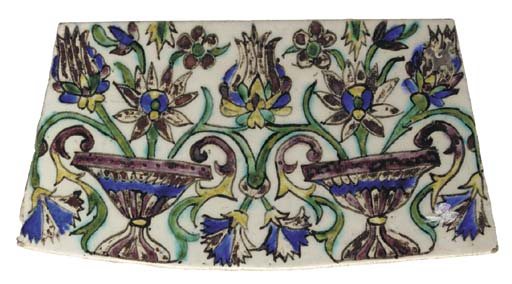 A Kutahya pottery tile, West A