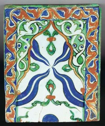 A Tekfur Saray pottery tile, I