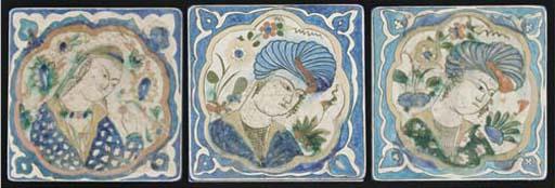Three Kubachi pottery figural