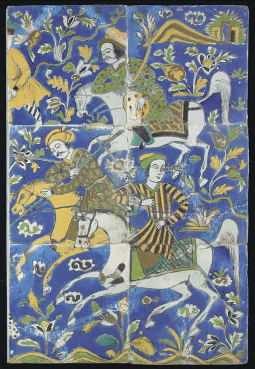 A panel of six late Safavid Cu