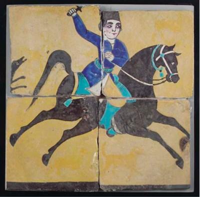 A panel of four Tehran enamell