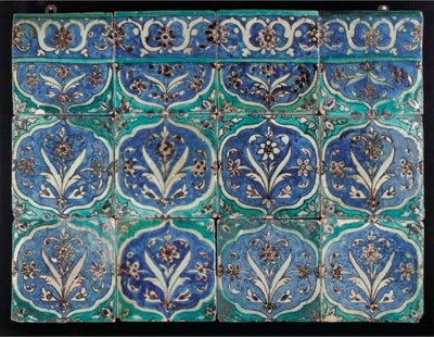 A panel of twelve Zand pottery