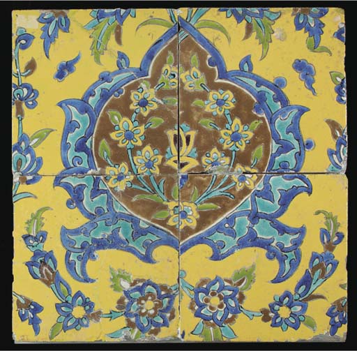 A panel of four late Safavid o