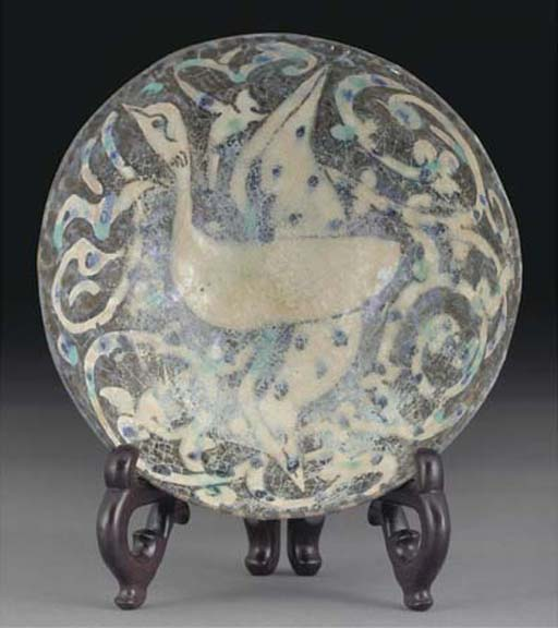 A Sultanabad pottery bowl, Not