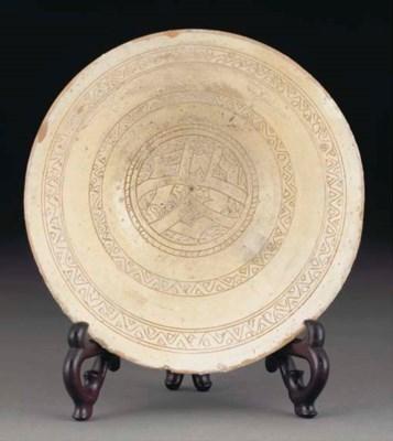 A Byzantine sgraffito pottery