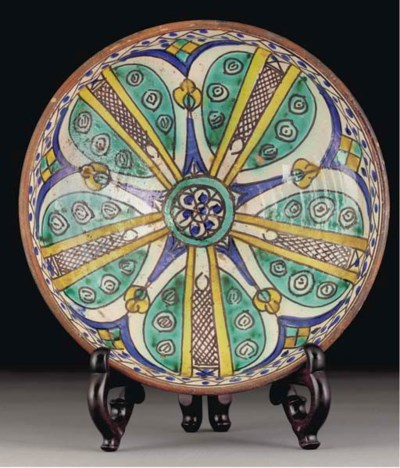 A Moroccan pottery dish, first