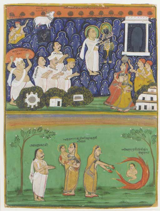 THE BIRTH OF KRISHNA, NATHADWARA, 19TH CENTURY