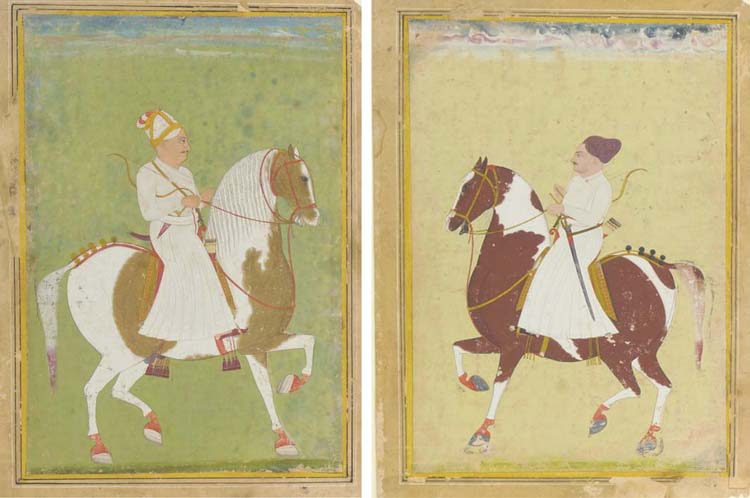 TWO EQUESTRIAN PORTRAITS FROM