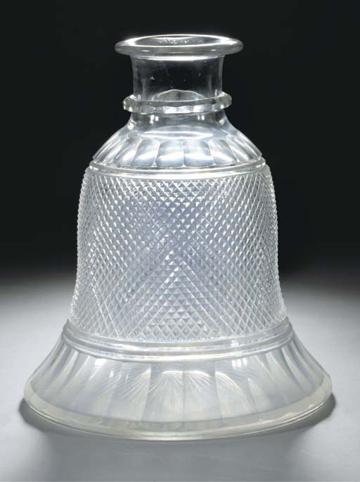 A European glass huqqa base, 19th Century