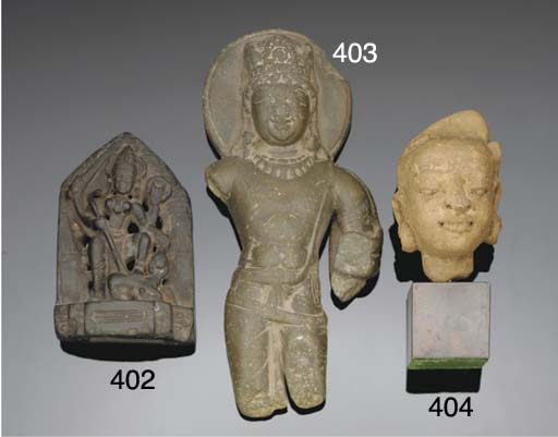 A Kashmir green stone figure o