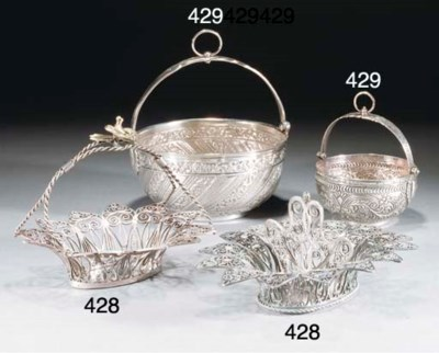 Two Ottoman silver hanging bow