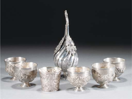 An Ottoman silver sprinkler, 19th Century