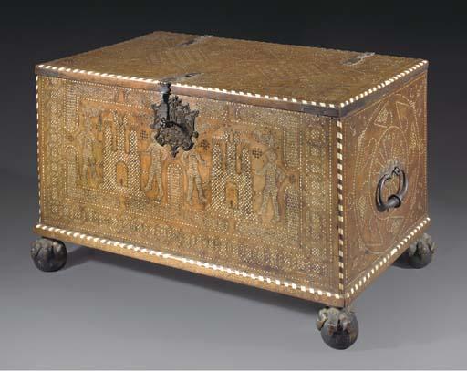 A Moorish inlaid coffer, Grana
