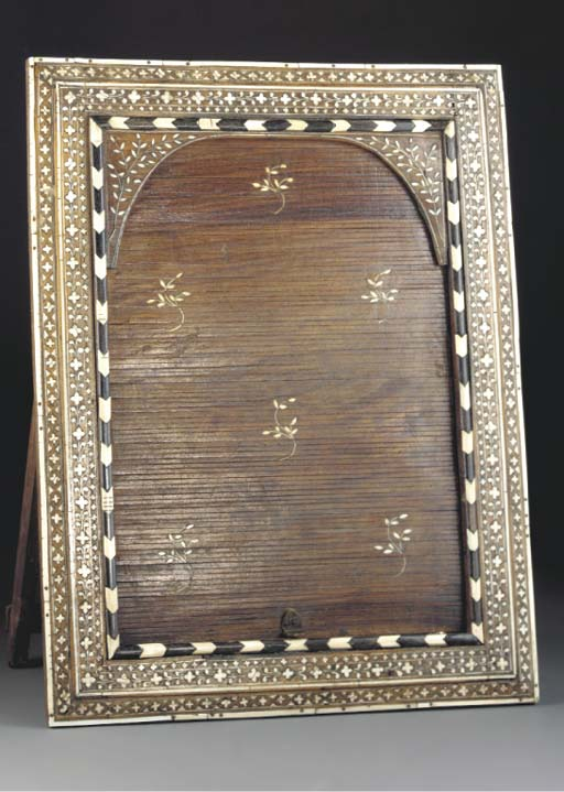 An Indian inlaid drawer-front