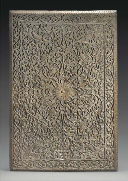 An Indian carved wood panel, 1
