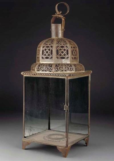 An Ottoman glazed lantern, 18t