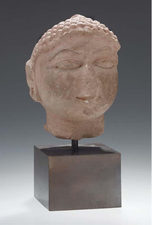 An Indian sandstone head of Ji