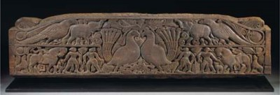 An Orissa carved wood panel, 1
